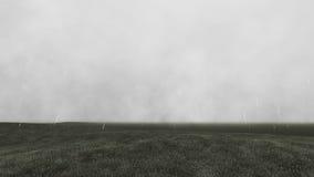 Gloomy landscape with rain 6 Stock Photos