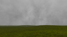 Gloomy landscape with rain 4 Stock Photography