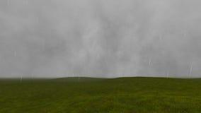 Gloomy landscape with rain 4 Stock Photography