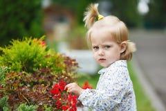 Gloomy little girl Stock Photos