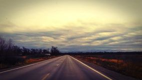 Gloomy Morning Drive Royalty Free Stock Photography