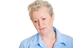 Gloomy old woman Royalty Free Stock Image