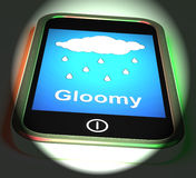 Gloomy On Phone Displays Dark Grey Miserable Weather Royalty Free Stock Images