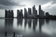 Gloomy picture of Singapore landscape stock images