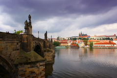 Gloomy Prague Royalty Free Stock Photo