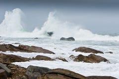 Gloomy raging sea Stock Image