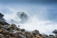 Gloomy raging sea Royalty Free Stock Photography