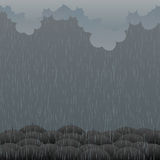 Gloomy Rain Royalty Free Stock Images
