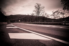 Gloomy road Stock Photography