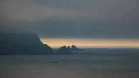 Gloomy sea shore Stock Photo