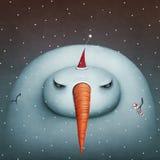 Gloomy snowman Royalty Free Stock Photos