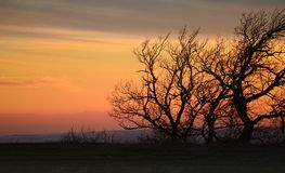 Gloomy sunset Stock Photography