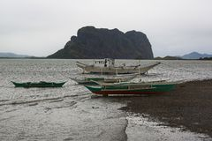 A gloomy sunset on the Filipino island. Of Palawan Stock Images