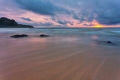 Gloomy tropical sunset Stock Photography