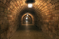Gloomy tunnel Royalty Free Stock Image