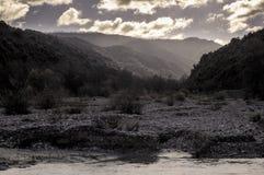 Gloomy valley Stock Image