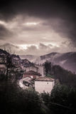 Gloomy village Stock Photo