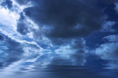 Gloomy weather background Stock Photography