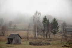 Gloomy weather in the country. Royalty Free Stock Photos