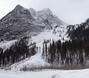 Gloomy weather in winter mountains Stock Image