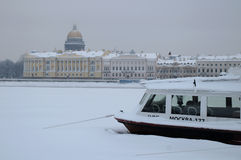 Gloomy Winter Day in Saint-Petersburg Royalty Free Stock Image
