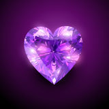 gloowing καρδιά διαμαντιών Στοκ Εικόνες