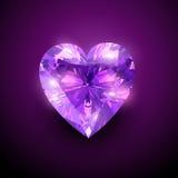 gloowing hjärta för diamant Arkivfoto
