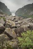 Gloppedalsura岩浆Geopark斯塔万格挪威 免版税库存照片