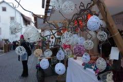 Glorenza/Glurns, νότιο Τύρολο, Ιταλία, 2016 - 12 10: Δεκέμβριος Χριστουγέννων Στοκ Φωτογραφίες