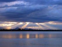 Gloria de la puesta del sol Imágenes de archivo libres de regalías