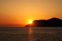 Gloria de la puesta del sol Fotos de archivo
