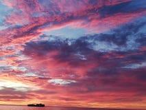 Gloria de la puesta del sol imagen de archivo libre de regalías