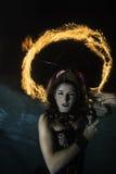 Gloria del fuoco sopra la sirena Fotografie Stock Libere da Diritti