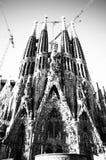Gloria esperta della facciata di Sagrada fotografie stock libere da diritti