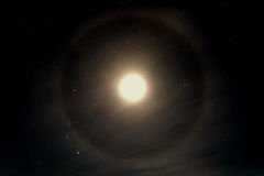 Gloria för stjärnahimmelmåne Fotografering för Bildbyråer