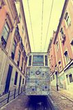 The Gloria Funicular Ascensor da Gloria in Lisbon, Portugal Royalty Free Stock Images