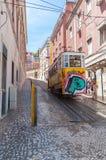 Gloria funicular en Lisboa Foto de archivo libre de regalías