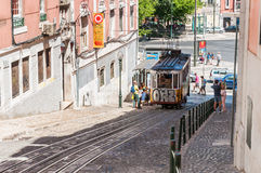 Gloria funicular in Lisbon Royalty Free Stock Image