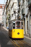 Gloria Funicular in Lisbon Stock Images