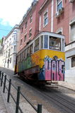 Gloria funicular in Lisbon Stock Photos