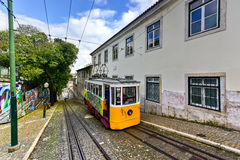 Gloria Funicular - Lisbon, Portugal Royalty Free Stock Images