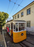 Gloria Funicular in Lisbon Royalty Free Stock Photography
