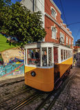 Gloria Funicular in Lisbon Stock Image