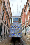 The Gloria Funicular & x28;Ascensor da Gloria& x29; in Lisbon, Portugal Royalty Free Stock Photos