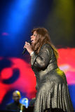 Gloria Gaynor che esegue al festival dell'uscita Fotografia Stock