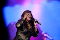 Gloria Gaynor performing at Exit festival Royalty Free Stock Images