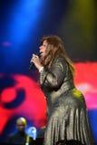 Gloria Gaynor que se realiza en el festival de la salida Foto de archivo