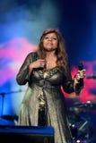 Gloria Gaynor que se realiza en el festival de la salida Fotografía de archivo libre de regalías