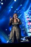 Gloria Gaynor som utför på utgångsfestivalen Royaltyfria Foton