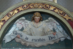 Gloria im excelsis Deo Stockbild